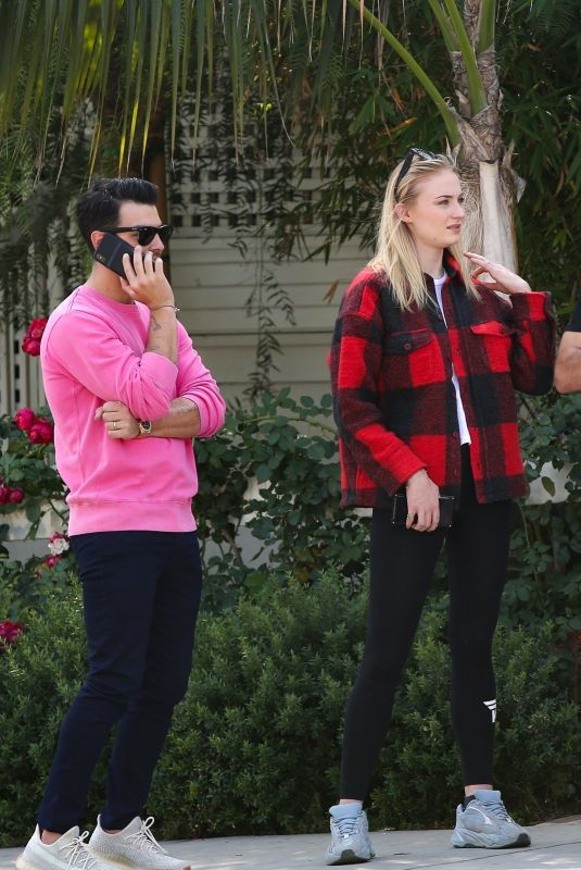 SOPHIE TURNER and Joe Jonas Out in Beverly Hills 10/17/2019