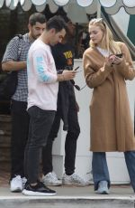 SOPHIE TURNER and Joe Jonas Out in Los Angeles 10/16/2019