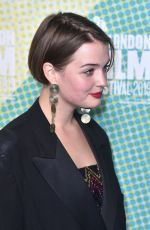 TALLULAH GREIVE at Our Ladies Premiere at BFI London Film Festival 10/04/2019
