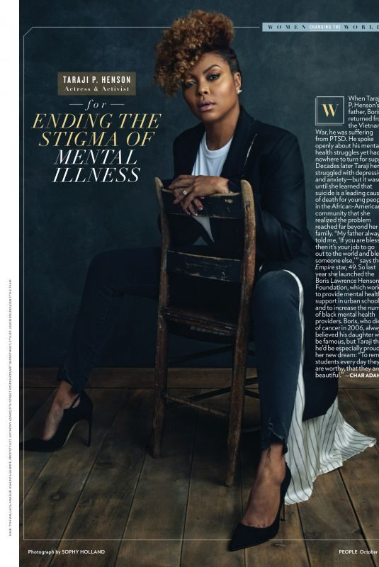 TARAJI P. HENSON in People Magazine, October 2019