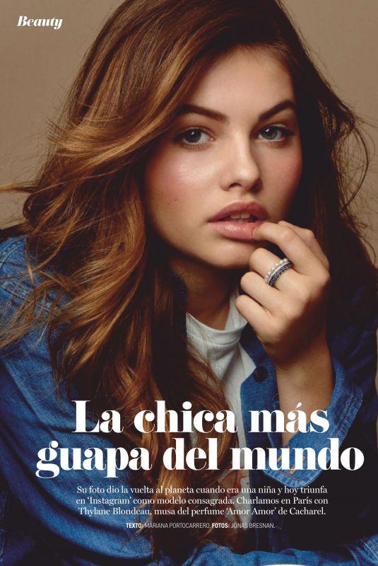 THYLANE BLONDEAU in Cosmopolitan Magazine, Spain November 2019