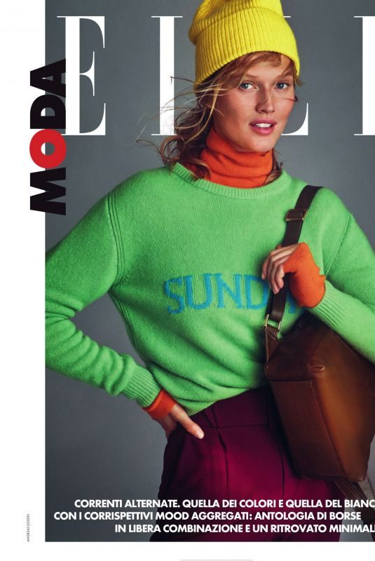 TONI GARRN in Elle Magazine, Italy November 2019