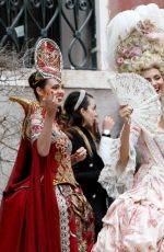 VICTORIA JUSTICE and MADISON REED Out in Carnival Costumes in Venice 10/04/2019