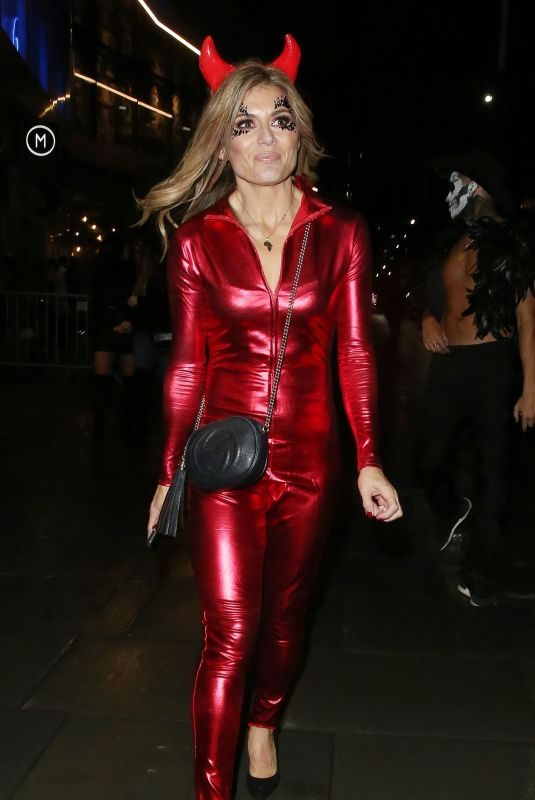 ZOE HARDMAN at Halloween Party at M Restaurant in London 10/25/2019