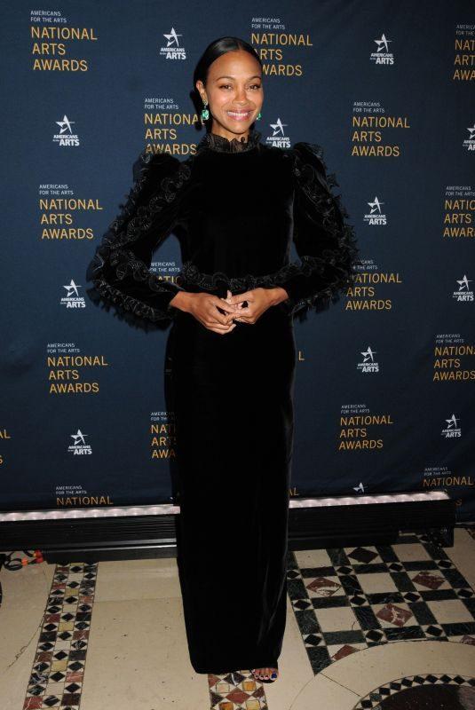 ZOE SALDANA at 2019 National Arts Awards in New York 10/21/2019