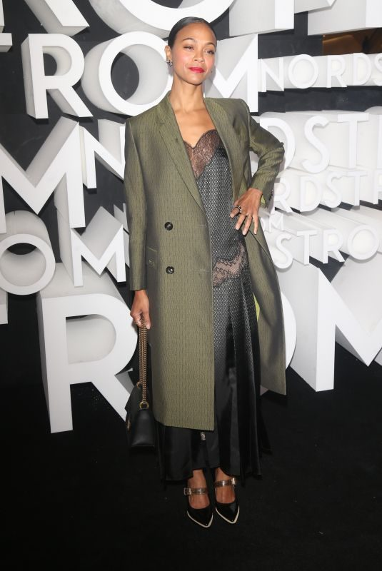 ZOE SALDANA at Nordstrom NYC Flagship Opening Party 10/22/2019