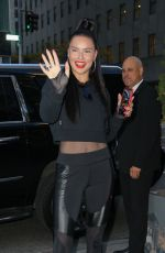ADRIANA LIMA Arrives at Puma Store in New York 11/01/2019