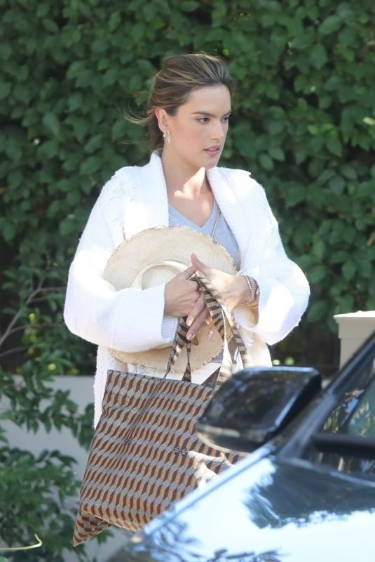 ALESSANDRA AMBRPSIO Leaves Her Home in Los Angeles 11/03/2019