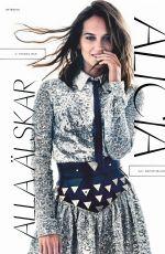 ALICIA VIKANDER in Elle Magazine, Sweden December 2019