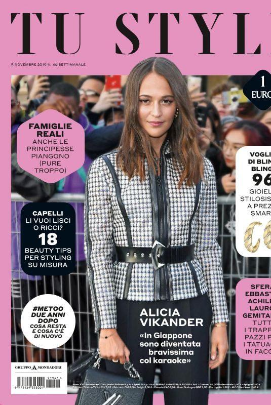 ALICIA VIKANDER in Tu Style Magazine, November 2019
