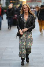 AMANDA HOLDEN Leaves Heart Radio in London 11/29/2019