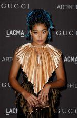 AMANDLA STENBERG at 2019 Lacma Art + Film Gala Presented by Gucci in Los Angeles 11/02/2019