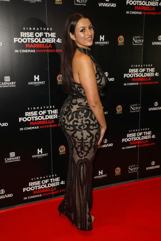 AMEL RACHEDI at Rise of the Footsoldier 4: Marbella Premiere in London 11/01/2019