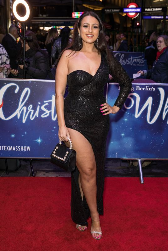 AMEL RACHEDI at White Christmas Musical Press Night in London 11/25/2019