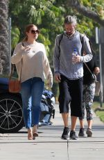AMY ADAMS and Darren Le Gallo Out in Beverly Hills 11/07/2019