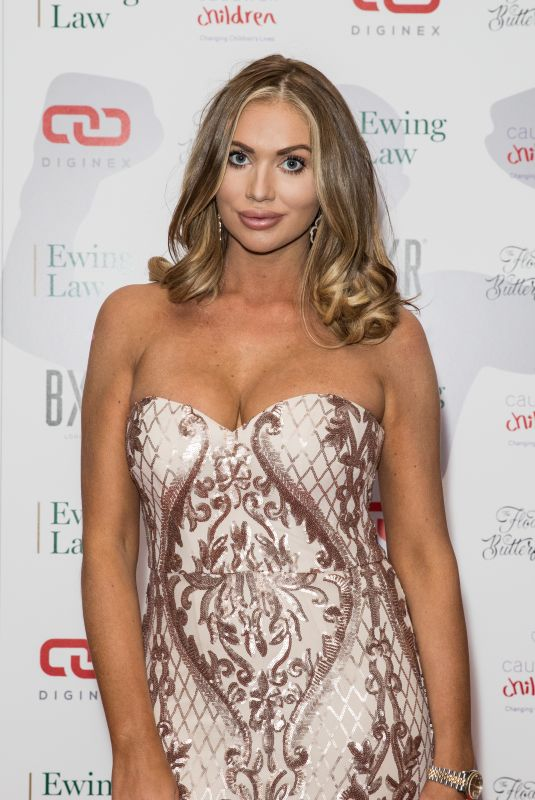 AMY CHILDS at Caudwell Children Float Like a Butterfly Ball in London 11/16/2019
