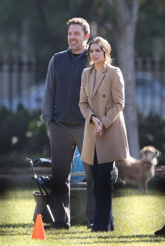 ANA DE ARMAS and Ben Affleck on the Set of Deep Water in New Orleans 11/13/2019