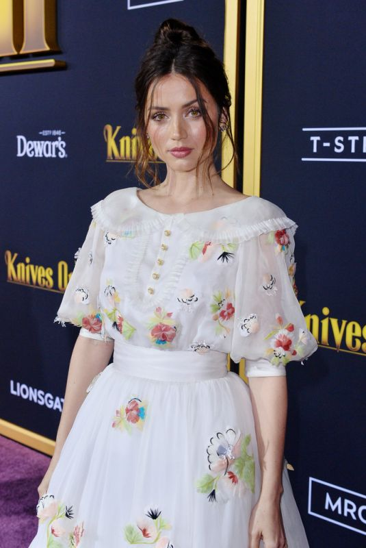 ANA DE ARMAS at Knives Out Premiere in Westwood 11/14/2019