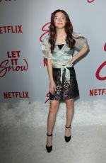 ANNA CATHCART at Let It Snow Premiere in Los Angeles 11/04/2019
