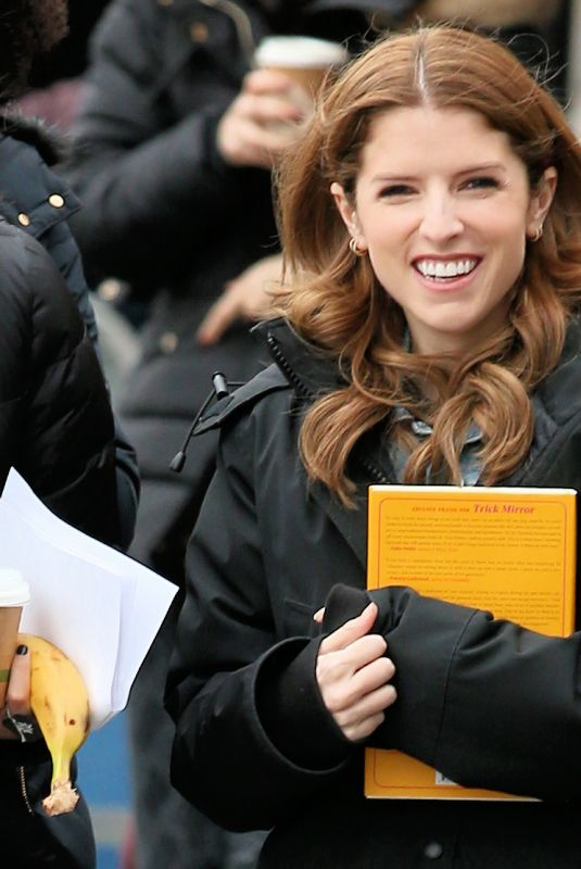 ANNA KENDRICK on the Set of Love Life in New York 11/18/2019