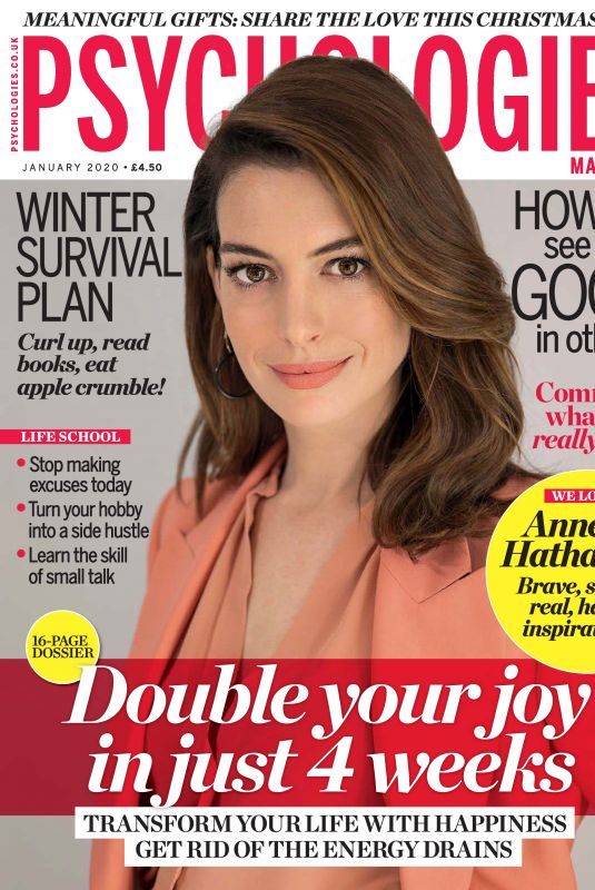 ANNE HATHAWAY in Psychologies Magazine, UK January 2020