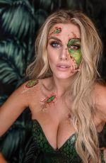 ASHLEY JAMES at a Halloween Party in London 10/31/2019