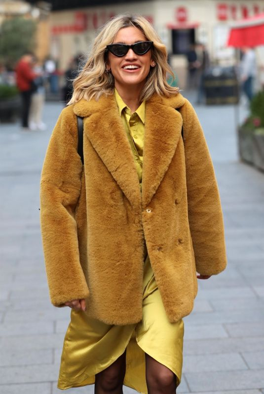 ASHLEY ROBERTS Arrives at Heart Radio in London 11/06/2019