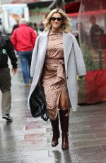 ASHLEY ROBERTS Leaves Heart Radio in London 11/01/2019