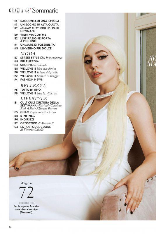 AVA MAX in Grazia Magazine, Italy November 2019