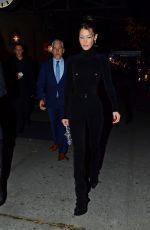 BELLA HADID Arrives at Cfda & Vogue Fashion Fund Awards in New York 11/04/2019