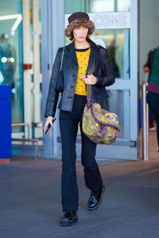BELLA HADID at JFK Airport in New York 11/16/2019