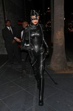 BELLA HADID Leaves Kendall Jenner's Birthday Halloween Bash in West Hollywood 11/01/2019
