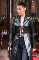 BELLA HADID Leaves Royal Monceau Hotel in Paris 11/15/2019