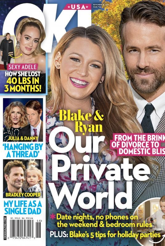 BLAKE LIVELY and Ryan Reynolds in Ok! Magazine, November 2019