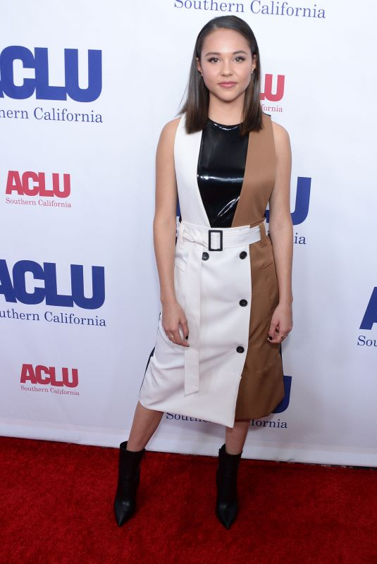 BREANNA YDE at Aclu Socal's Annual Bill of Rights Dinner in Beverly Hills 11/17/2019