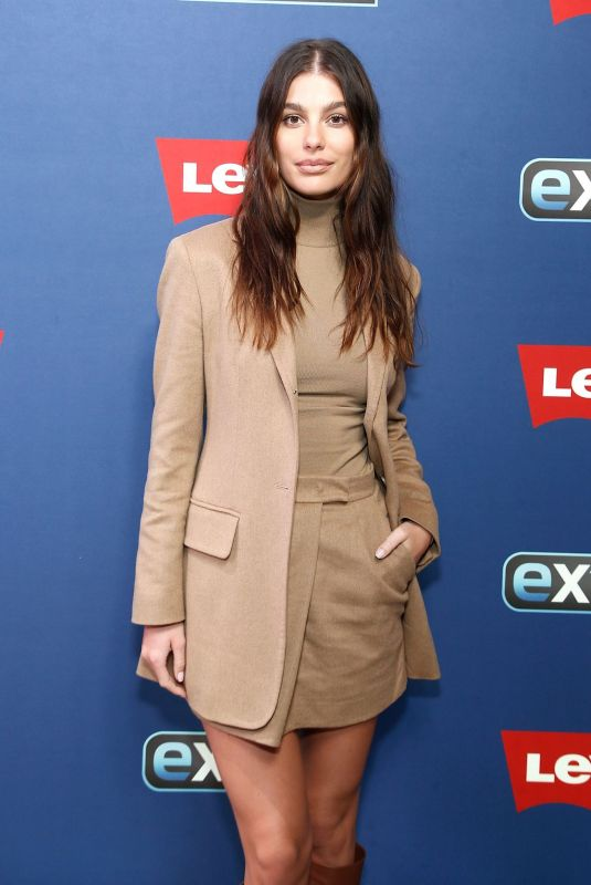 CAMILA MORRONE on the Set of Extra at The Levi's Store Times Square in New York 11/12/2019