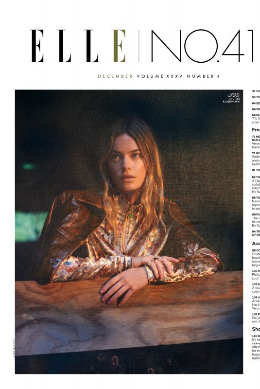 CAMILLE ROWE in Elle Magazine, December 2019