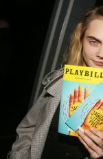 CARA DELEVINGNE and ASHLEY BENSON on the Backstage of New Alanis Morissette Musical Jagged Little Pill 11/20/2019