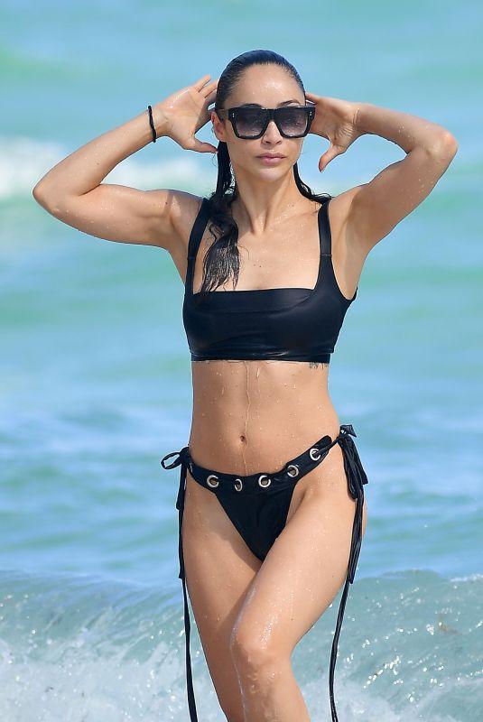 CARA SANTANA in Bikini at a Beach in Miami 11/07/2019