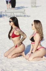 CARMEN VALENTINA and STEFANIA MAFRA in Bikini at a Beach in Miami 11/27/2019