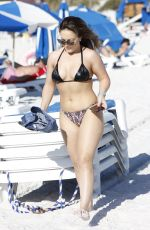 CARMEN VALENTINA in Bikini at a Beach in Miami 10/31/2019