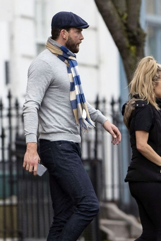 CAROLINE FLACK and Lewis Burton Out in London 11/28/2019