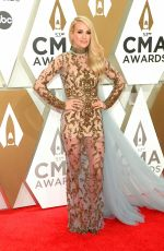 CARRIE UNDERWOOD at 2019 CMA Awards in Nashville 11/13/2019
