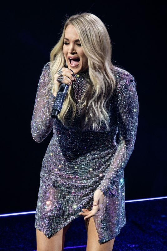 CARRIE UNDERWOOD Performs at Little Caesars Arena in Detroit 10/31/2019