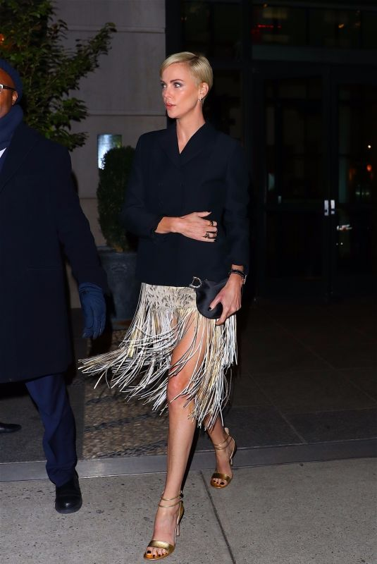 CHARLIZE THERON Heading to an Event in New York 11/12/2019