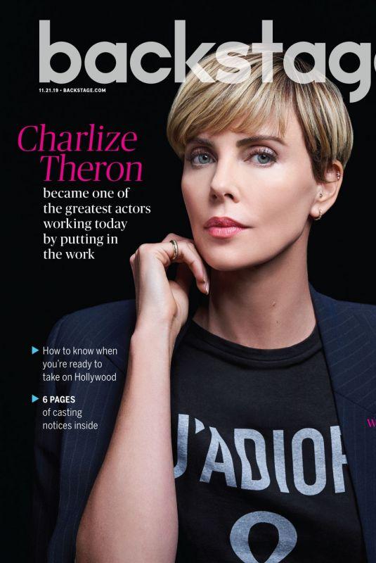 CHARLIZE THERON in Backstage Magazine, November 2019