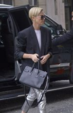 CHARLIZE THERON Leaves Her Hotel in New York 11/12/2019