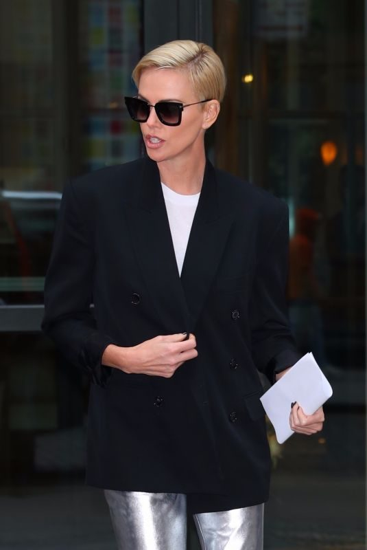 CHARLIZE THERON Out and About in New York 11/12/2019