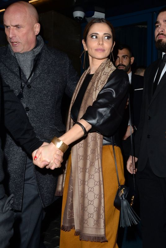 CHERYL COLE Leaves Kimberley Walsh's Birthday Party in London 11/22/2019