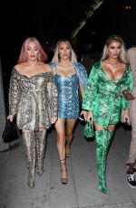 CHLOE, DEMI and FRANKIE SIMS at Bootsy Bellows in Los Angeles 11/13/2019